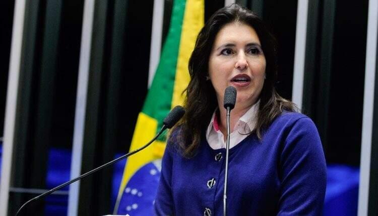 Simone Tebet (MBD-MS) em fala no senado federal. (Foto: Moreira Mariz / Agência Senado)