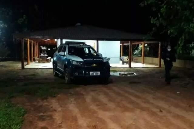 Sítio onde ocorreu o crime na noite de domingo. (Foto: Divulgação)