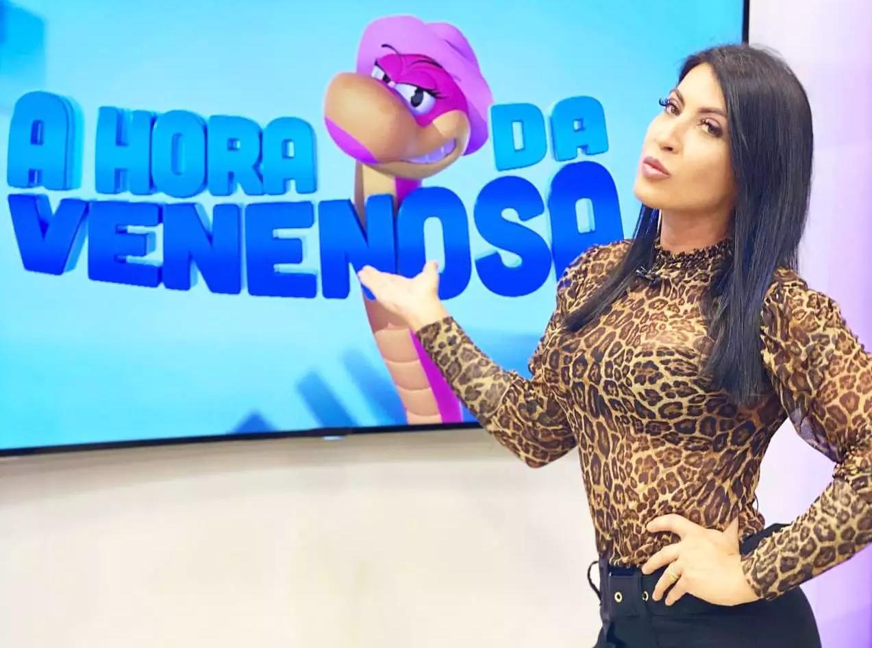 Atualmente, Priscila é apresentadora de TV (Foto: Arquivo Pessoal)
