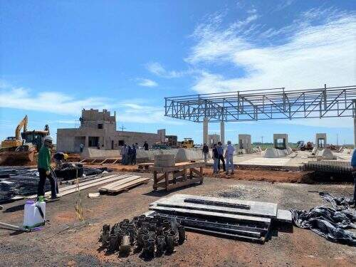 Praça de pedágio está sendo construída em trecho da MS-306 (Foto/Divulgação)