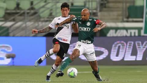 Jogando em casa, Palmeiras empata com o Vasco em 1 a 1