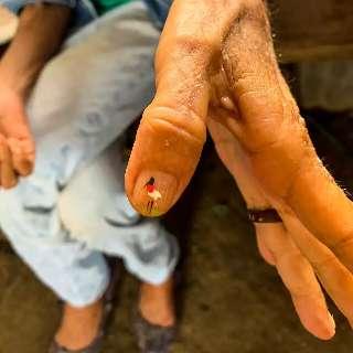 No Pantanal, dona Júlia ensina todo mundo a fazer tuiuiú nas unhas