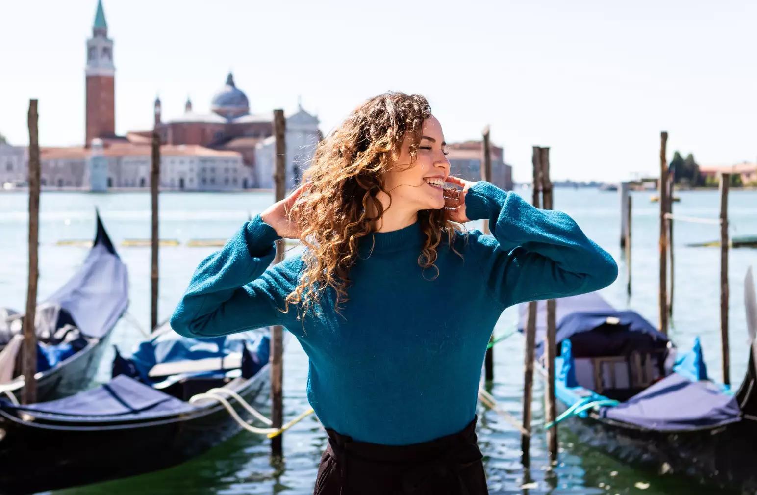 Júlia mora em Veneza há 10 anos e fala tudo sobre o lugar (Foto: Ana Laura Carciofi)