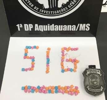 Traficante é preso com 90 comprimidos de ecstasy enviados pelos Correios