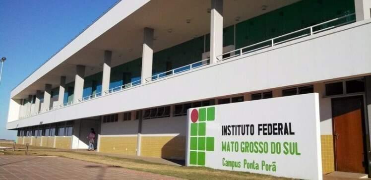 Unidade do IFMS em Ponta Porã também está com vagas abertas. (Foto: Divulgação)
