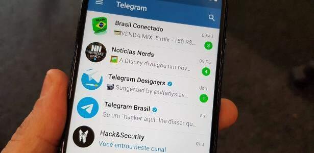 Imagem de celular que migrou para o Telegram (Foto: Divulgação)