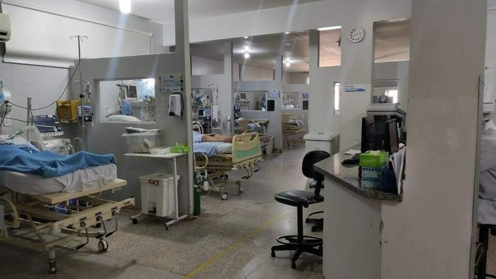 UTI do Hospital da Vida; pelo 2º dia, cidade não tem vagas em leitos gerais (Foto: Direto das Ruas)