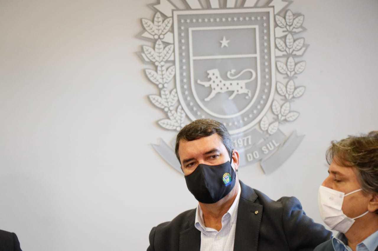 Eduardo Riedel, que assume a Seinfra, durante anúncio de mudança no governo (Foto: Henrique Kawaminami)