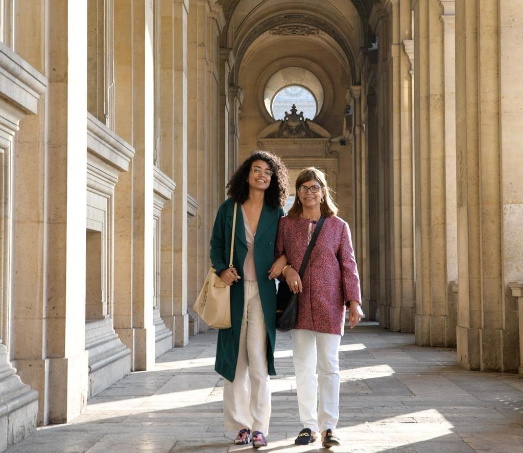 Mãe de Vanessa fez questão de visitar a filha em uma turnê europeia (Foto: Arquivo Pessoal)