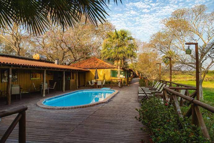 No meio do nada: Pousada no Pantanal de Mato Grosso do Sul é só uma mostra de que no estado não faltam lugares para fazer turismo de isolamento (Foto: VisitPantanal/Reprodução)