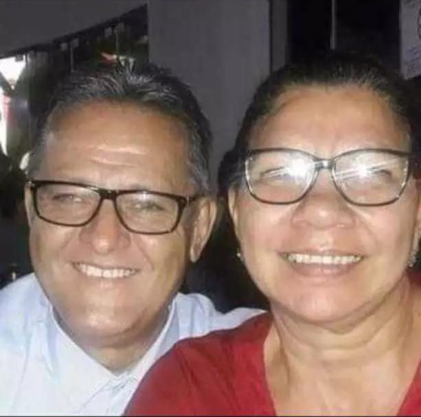 Marcio Antonio ao lado da esposa Sebastiana Aparecida Gonçalves. (Foto: Arquivo pessoal)