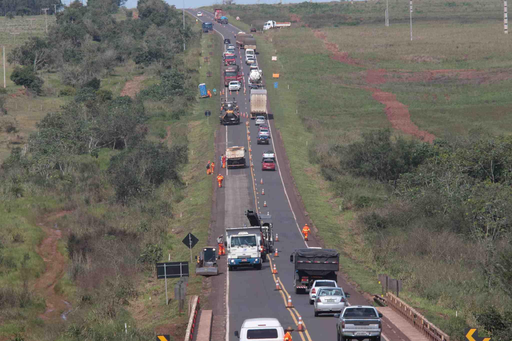 Trecho da BR-163, em Mato Grosso do Sul (Foto: Divulgação/CCR MSVia)