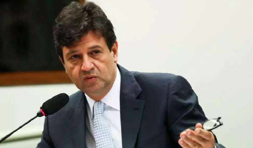 Ex-ministro da Saúde, Luiz Henrique Mandetta, em entrevista quando ainda era ministro. (Foto: Jose Cruz/Agência Brasil)