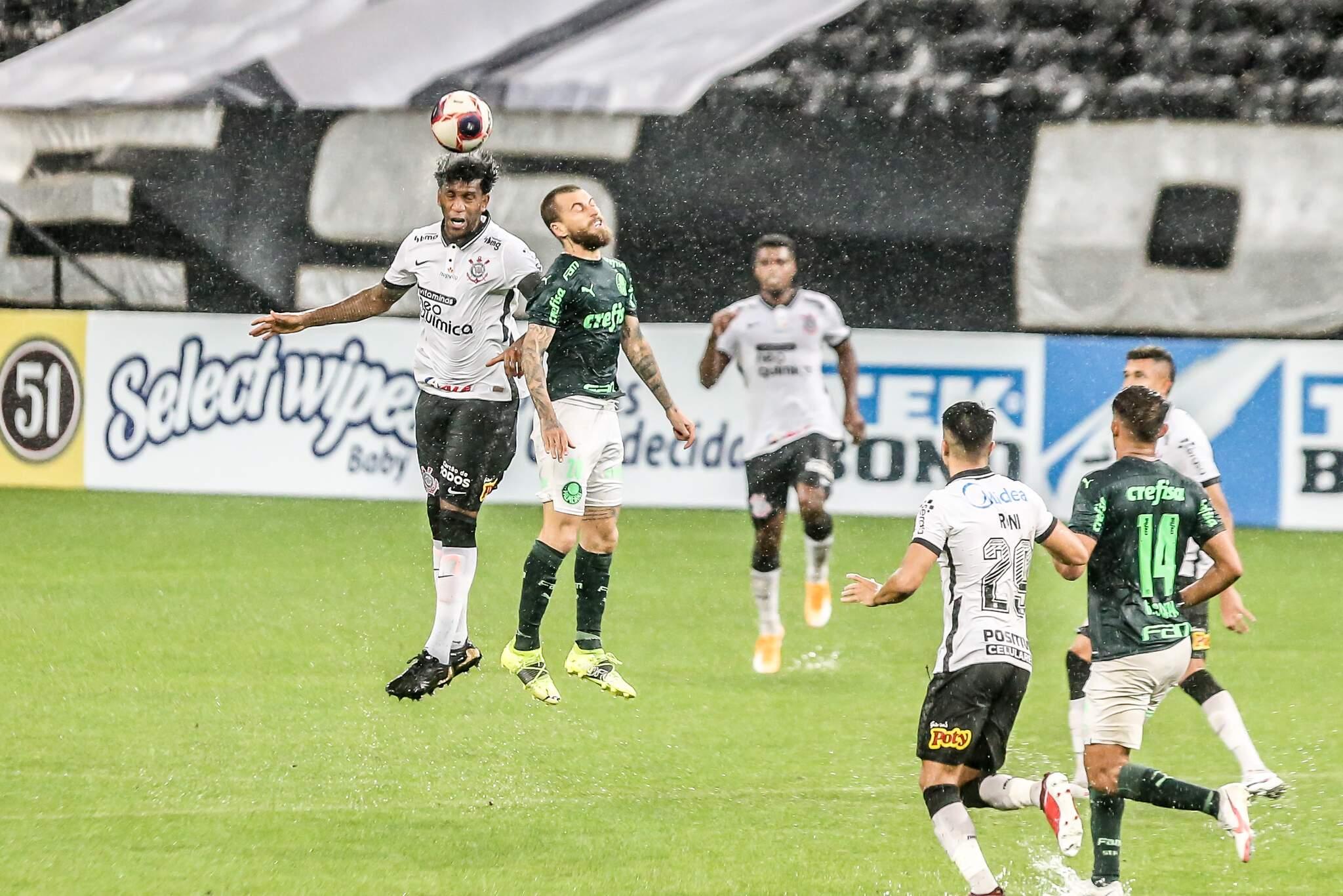 Gil do Corinthians durante a partida contra o Palmeiras, jogo valido pela 02 rodada do Campeonato Paulista 2021, partida disputada na Neo Química Arena, zona lesta de São Paulo, na tarde desta quarta-feira. (03). (Foto: Campeonato Paulista)