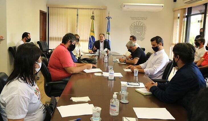 Reunião com secretário de Governo, Sérgio Murilo. (Foto: Edemir Rodrigues | Governo de MS)