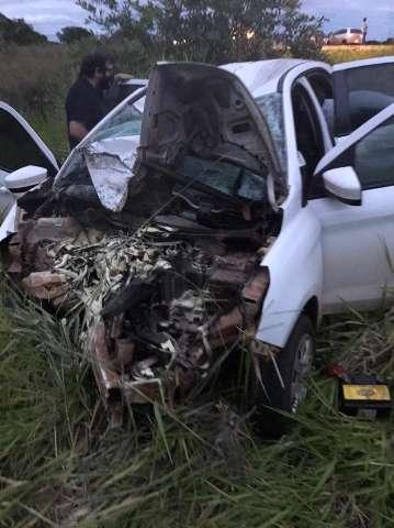 Motociclista morre e outras 3 pessoas ficam feridas em colisão na BR-060