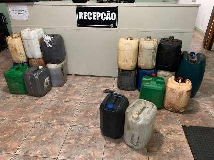 Borracheiro é flagrado vendendo combustível clandestino
