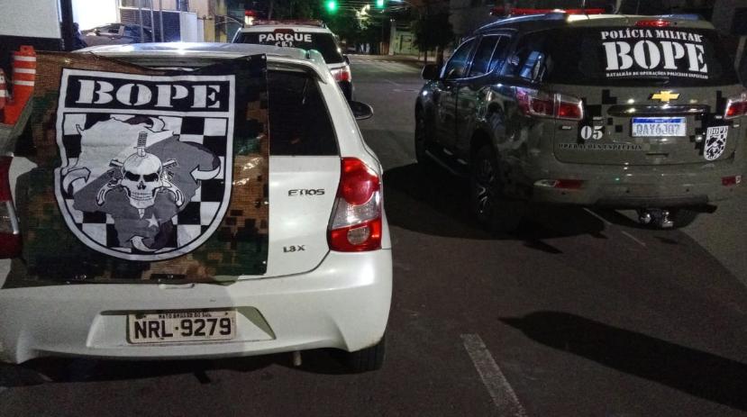 O veículo foi recuperado por policiais do Bope (Batalhão de Operações Policiais Especiais) (Foto: divulgação / PM)