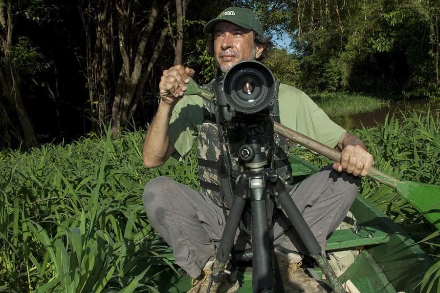 O experiente fotografo Daniel De Granville com mais de 20 anos de trabalho entre as regiões do Pantanal e de Bonito, em Mato Grosso do Sul (Foto: Reprodução)
