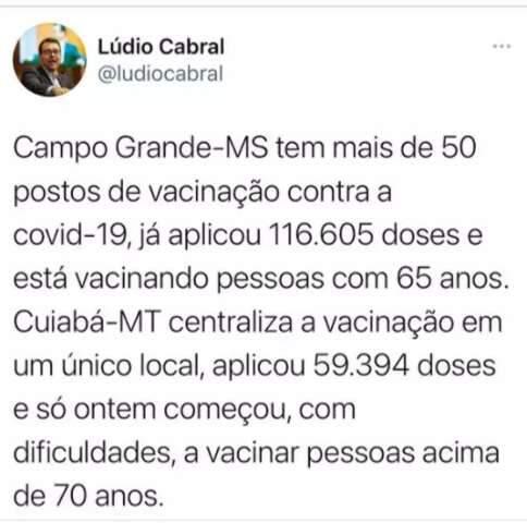 Cuibanos usam Campo Grande como exemplo de vacinação