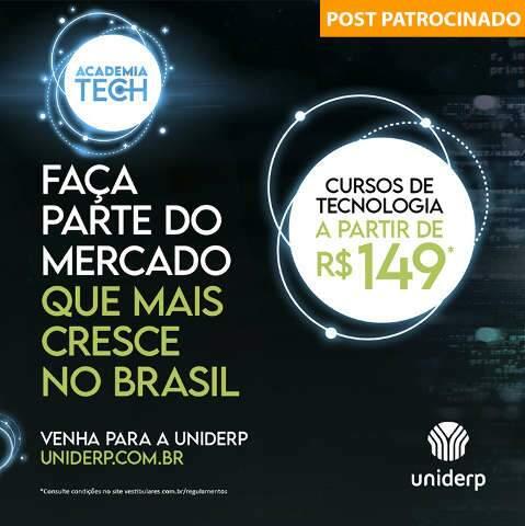 Academia de Tecnologia Uniderp com cursos a partir de R$ 149