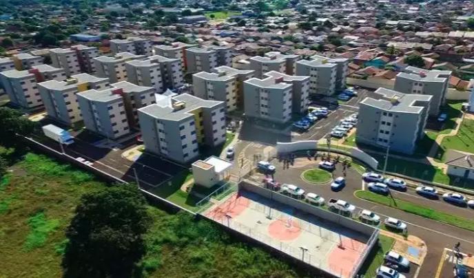 Vista aérea do projeto completo do Residencial Canguru (Foto/Divulgação)